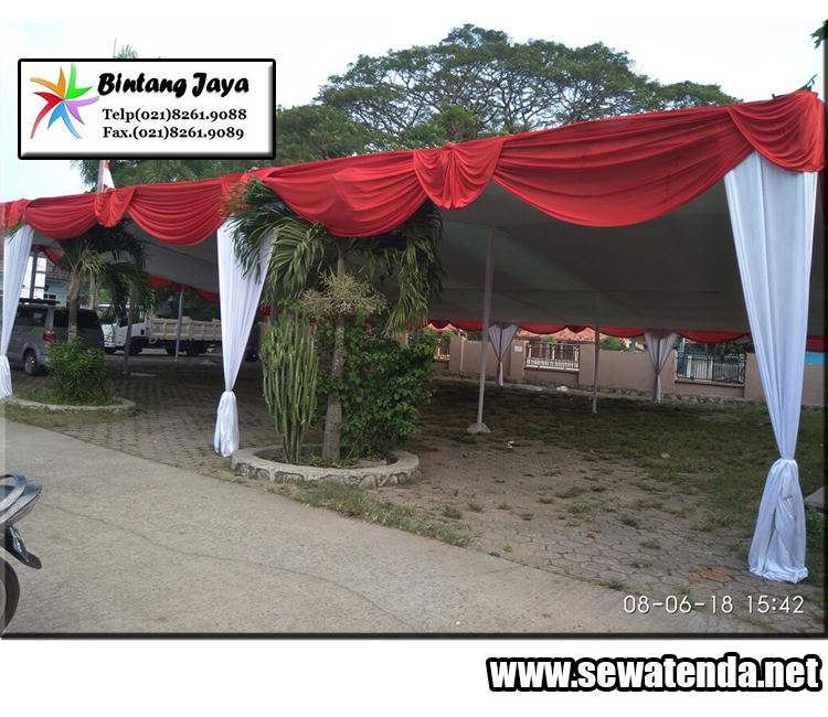 Tempat perentalan tenda dengan berbagai macam dekorasi untuk kemeriahan acara anda