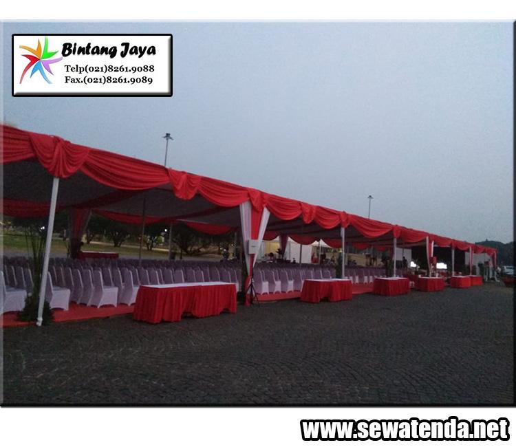 sewa tenda berdekorasi merah putih memperingati hari kemerdekaan indonesia 17 agustus 1945