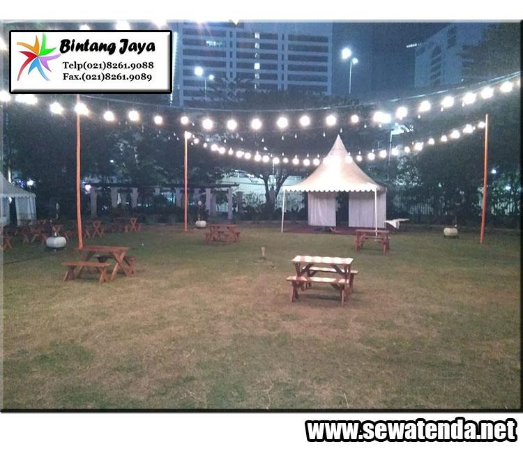 Rental tenda kerucut minat hubungi 0857-7733-3808 lengkap dengan dekorasinya