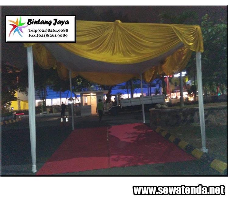 jasa rental tenda konvensional dilengkapi dengan dekorasi mewah berkualitas